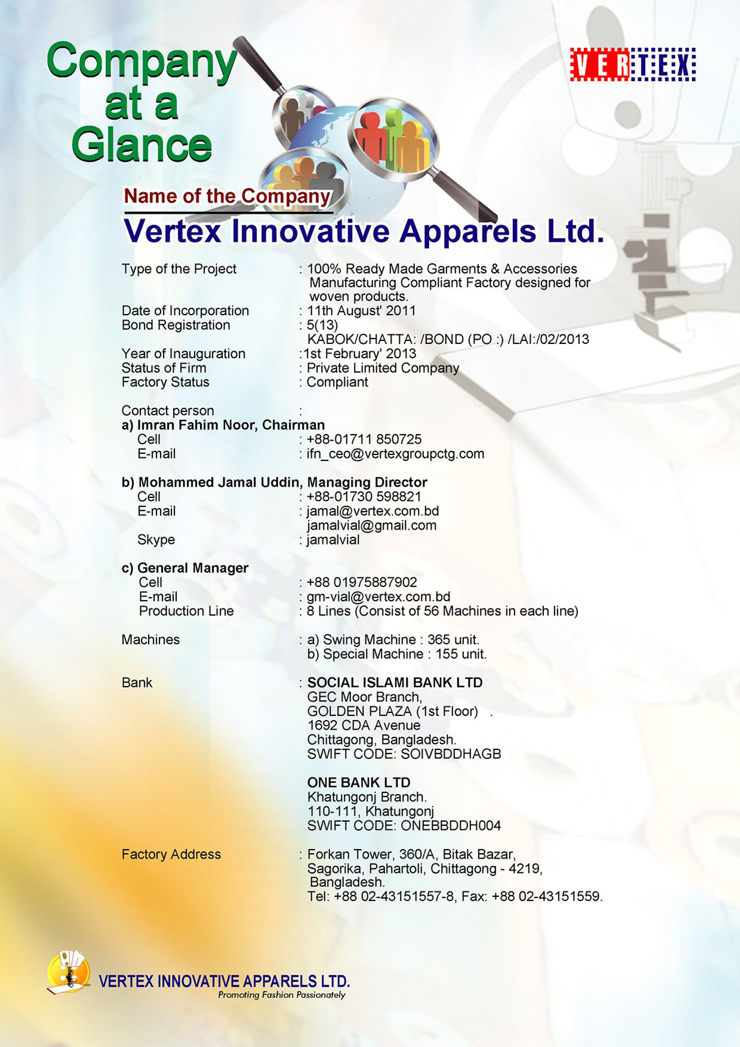 vertex innoavative apparels limited